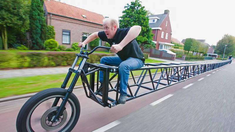 世界最長! 35.79 mもの長さのある自転車!