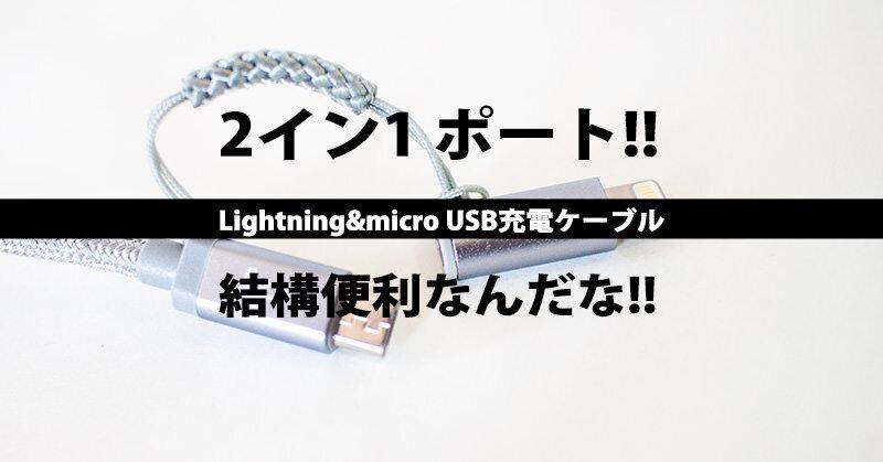 2in1ポートなLightning&micro USB充電ケーブルは結構便利だと感じた