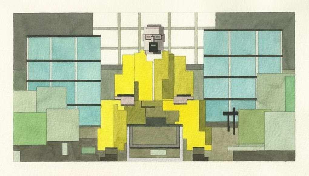 水彩画で描かれた8bitの柔らかい雰囲気:Adam Lister