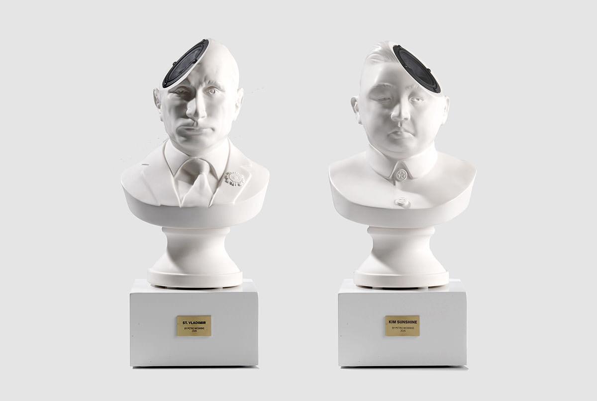 プーチン大統領や金正恩の胸像型スピーカーが異質すぎる