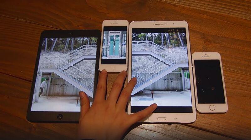 スマートデバイスの中を行き来する二人の男女のノロケ物語