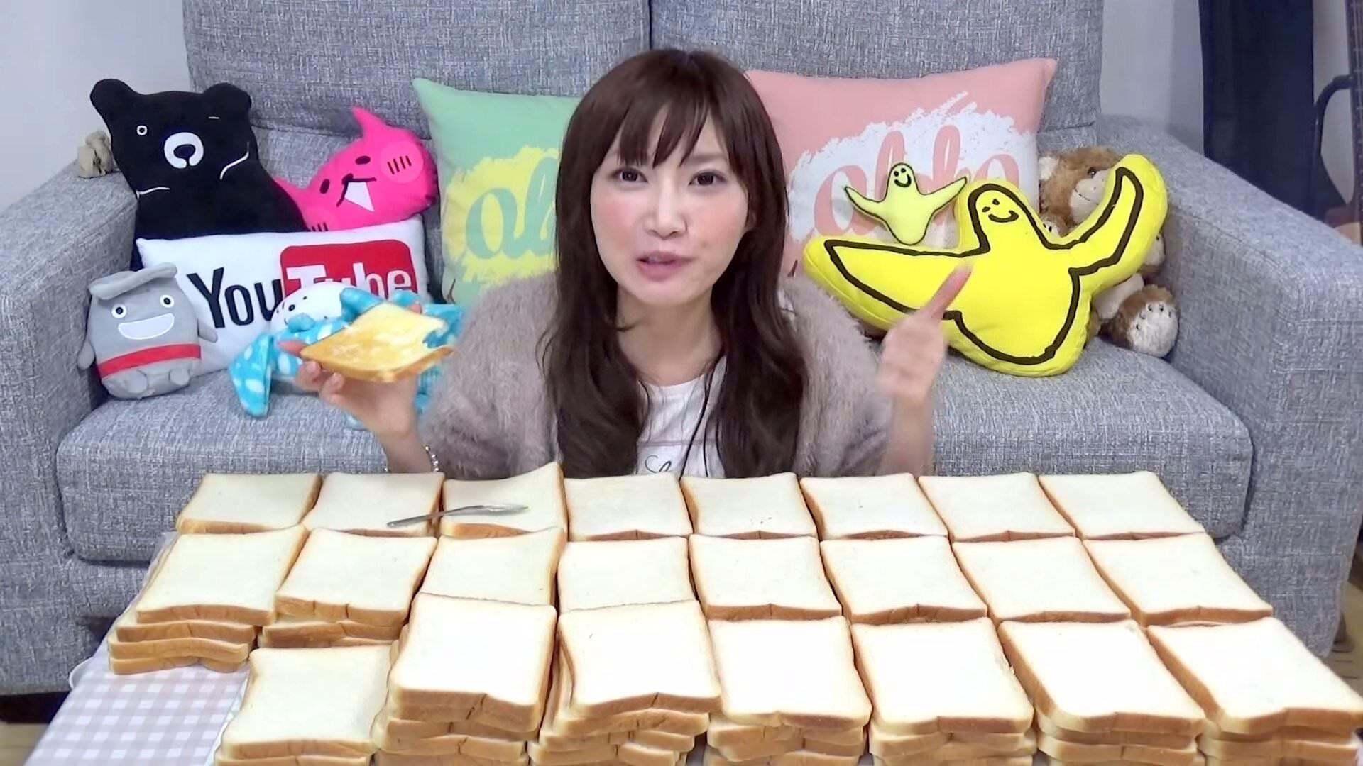 コレはやべえ!約3.9kgもの食パンを完食してしまう女性
