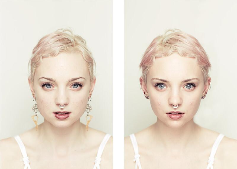 どこか違和感。顔が左右対称だと美しくないのか。