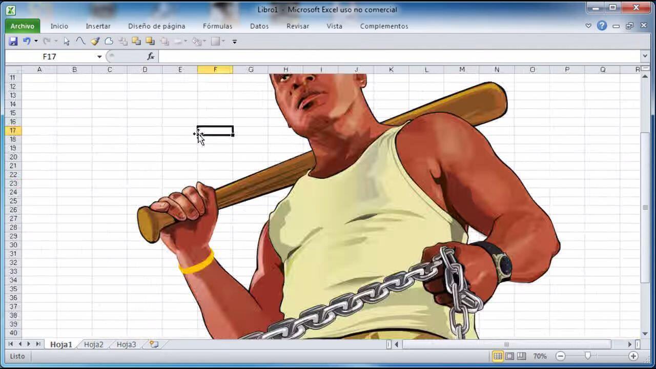 Excelを使って描かれるGTA Vのフランクリンがかっこいい!