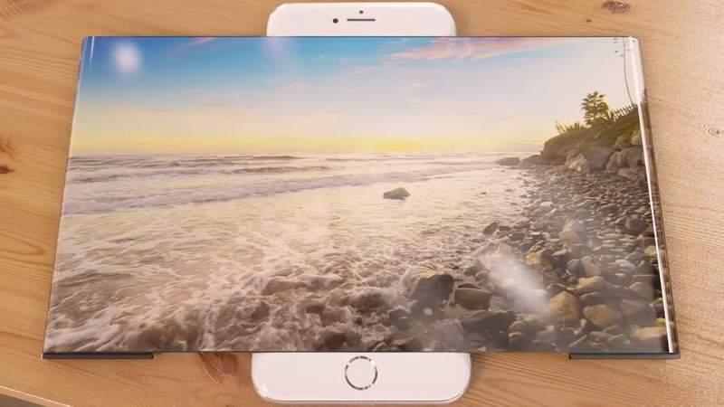 フレキシブルワイドスクリーンが搭載されたiPhone 7のコンセプトイメージがすごい