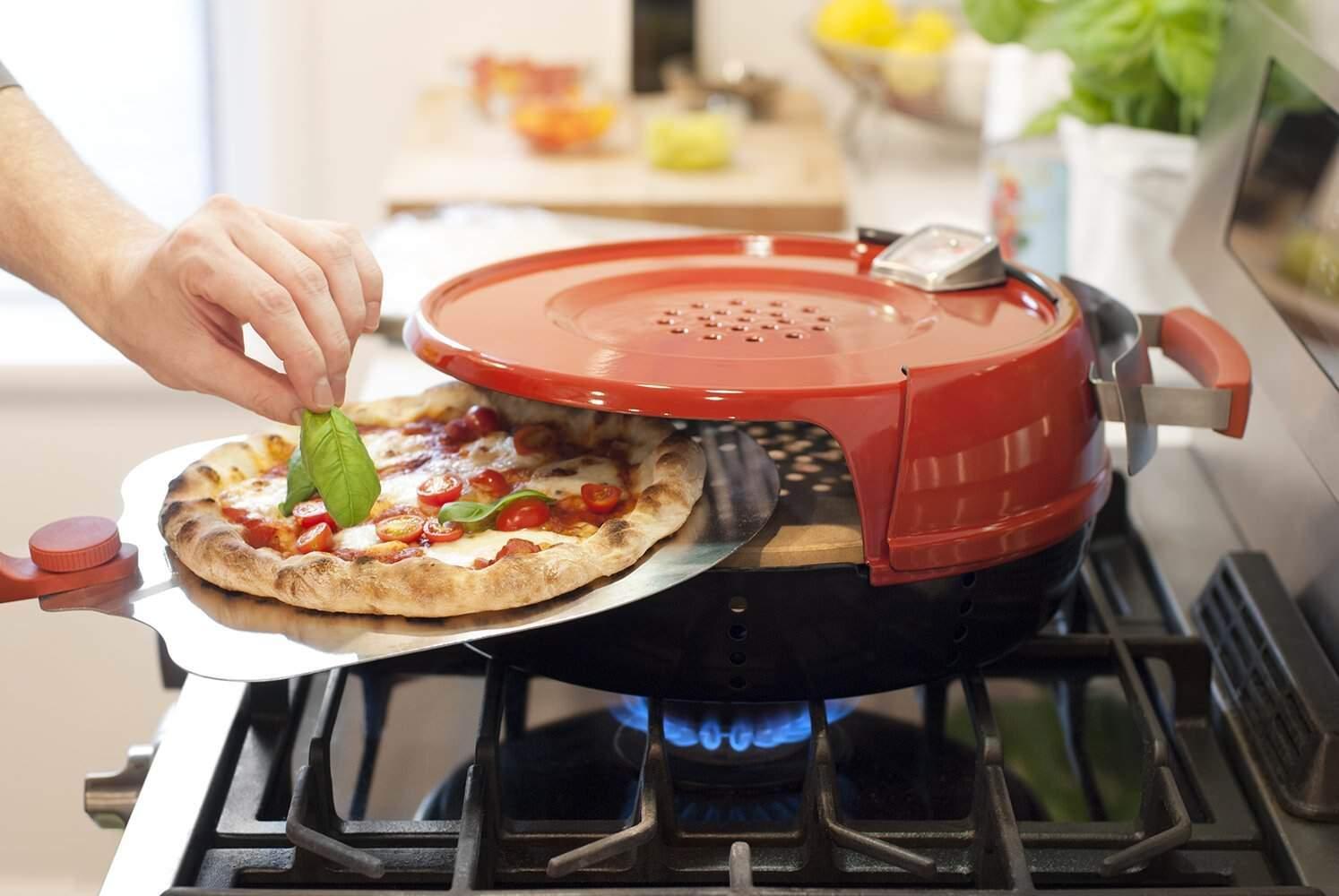ガスコンロで石窯風ピザが焼けるピザオーブン:Stovetop Pizza Oven