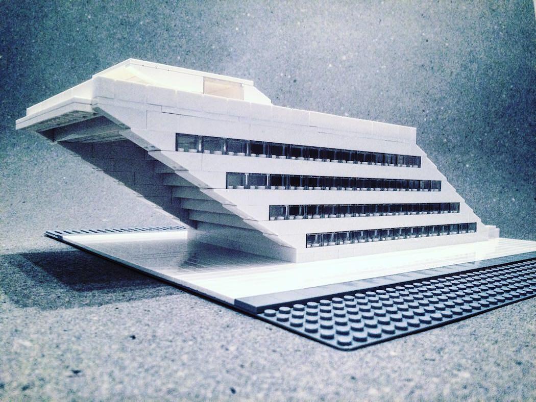 LEGOで作られたとてもスタイリッシュな建築