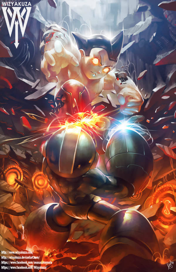 megaman_vs_astro_boy_by_wizyakuza-d9mobbq