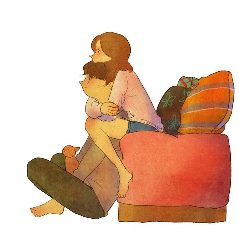 何だか素敵な雰囲気のカップルのイラスト:Puuung