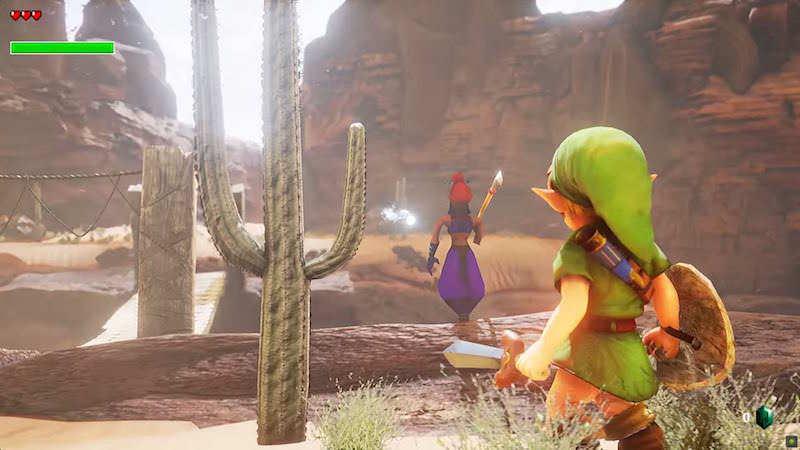 Unreal Engine 4でリアルになった「ゼルダの伝説 時のオカリナ」