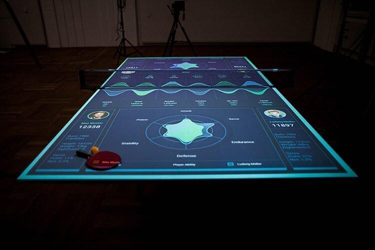 ハイテク技術でトレーニングできる卓球台