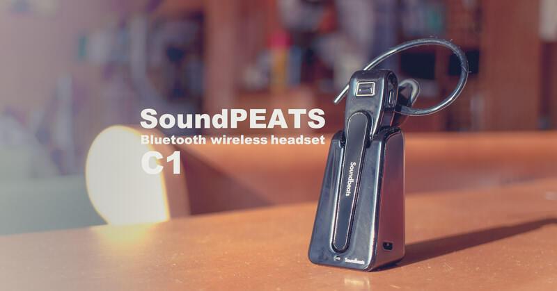 SoundPEATSの片耳BluetoothワイヤレスヘッドセットC1