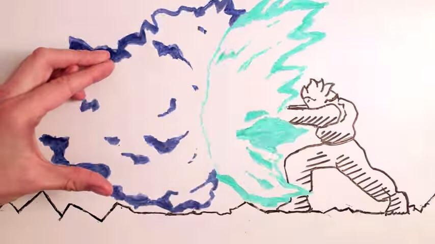 作者とキャラクターが戦うアニメーション Maker vs. Marker