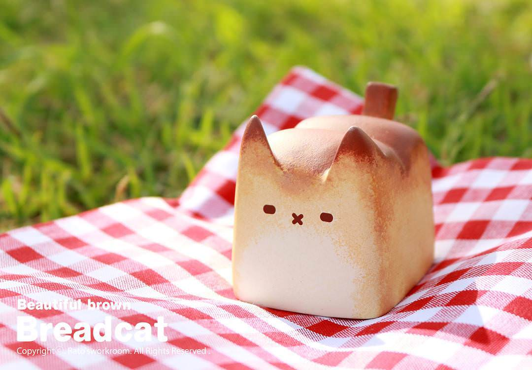 ネコみたいなパン、Breadcatが可愛い! art by Rato Kim