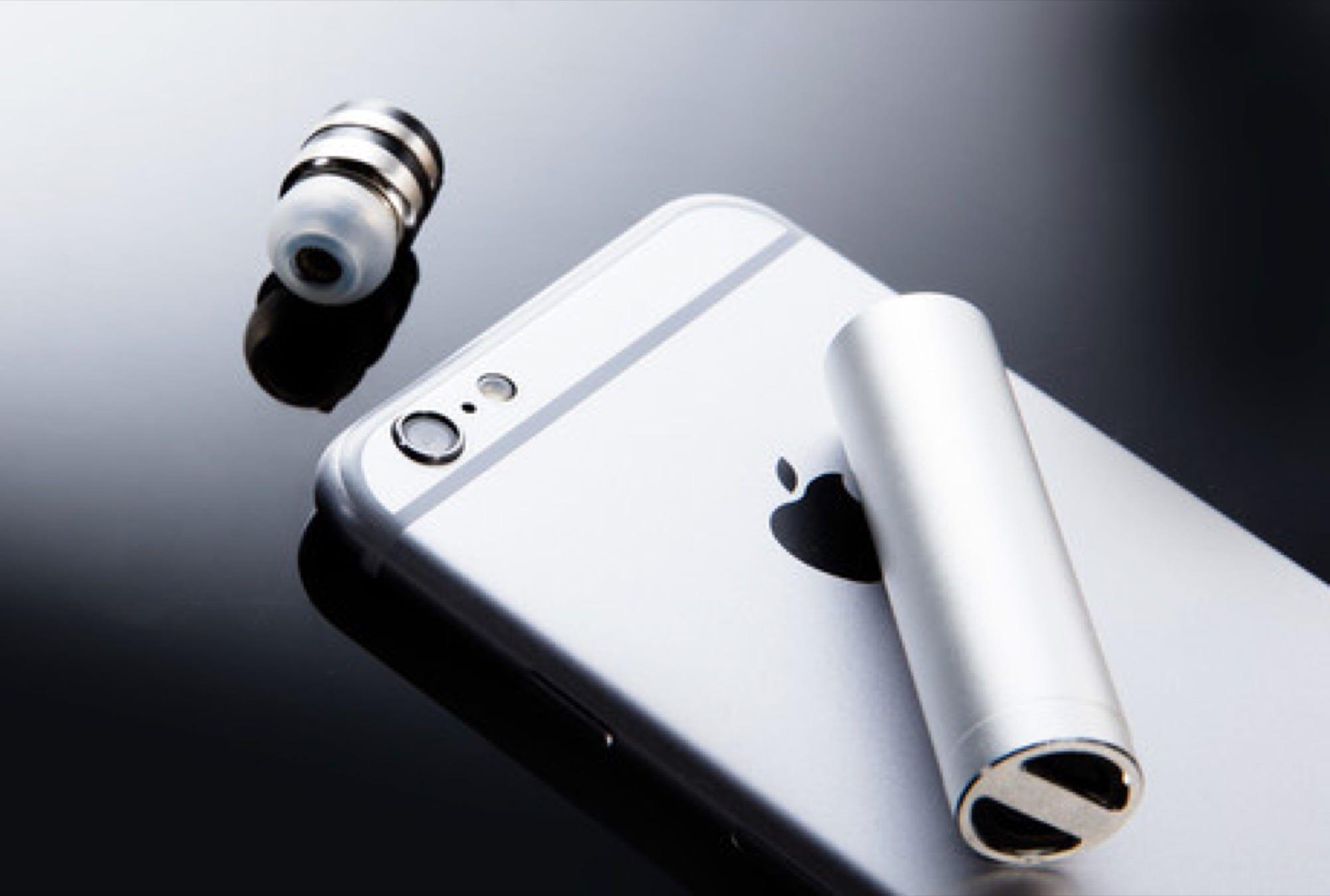 マイク内蔵の耳栓型の極小Bluetoothイヤホン:BULLET