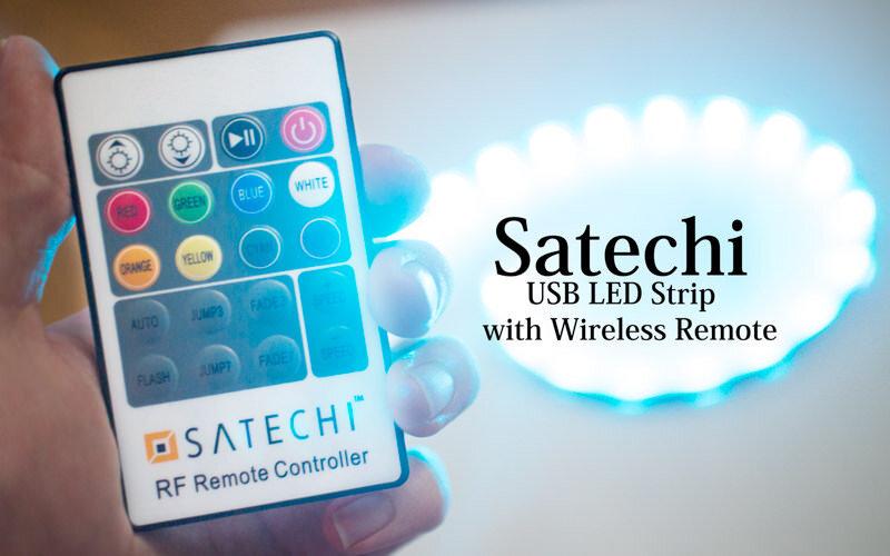 Satechi デスク周りをオシャレに彩る帯状LEDテープ!しかもリモコン付き!
