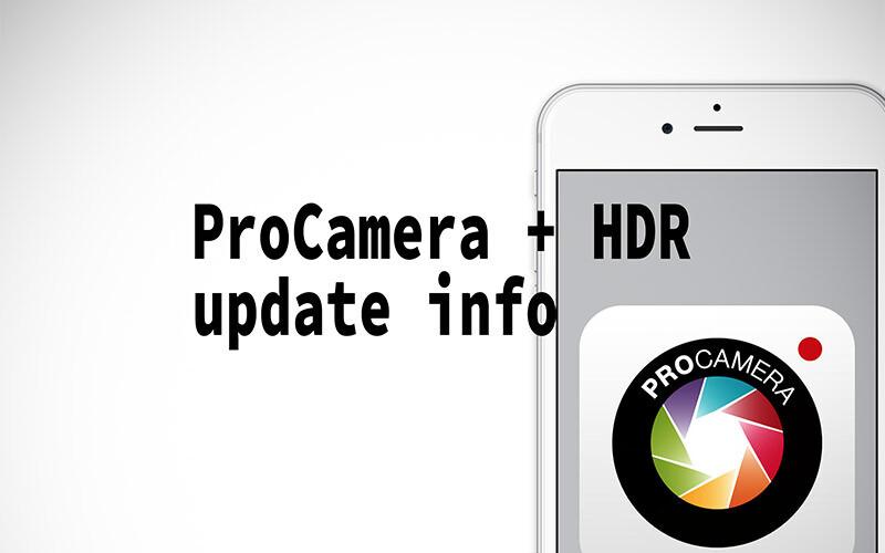ProCamera + HDR バージョン 9.5のアップデート情報、ついにHDRの複数保存が可能に!