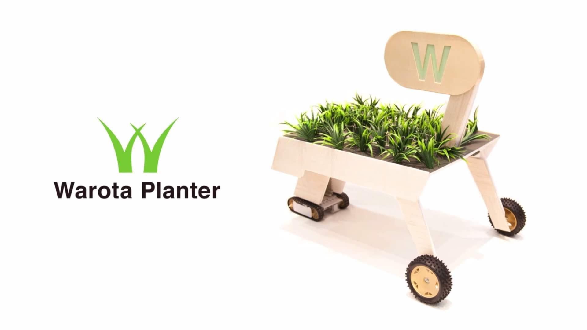 大草原不可避!ネットで誰かが「w」とつぶやけば、草が植えられる機械:Warota Planter