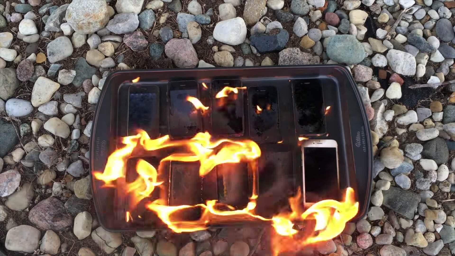 iPhone各種に油を注いで火をつけてみた。耐火テストの結果は以下に!?