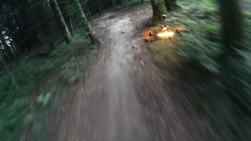 ドローンのFPV Racingにおけるクラッシュシーン!