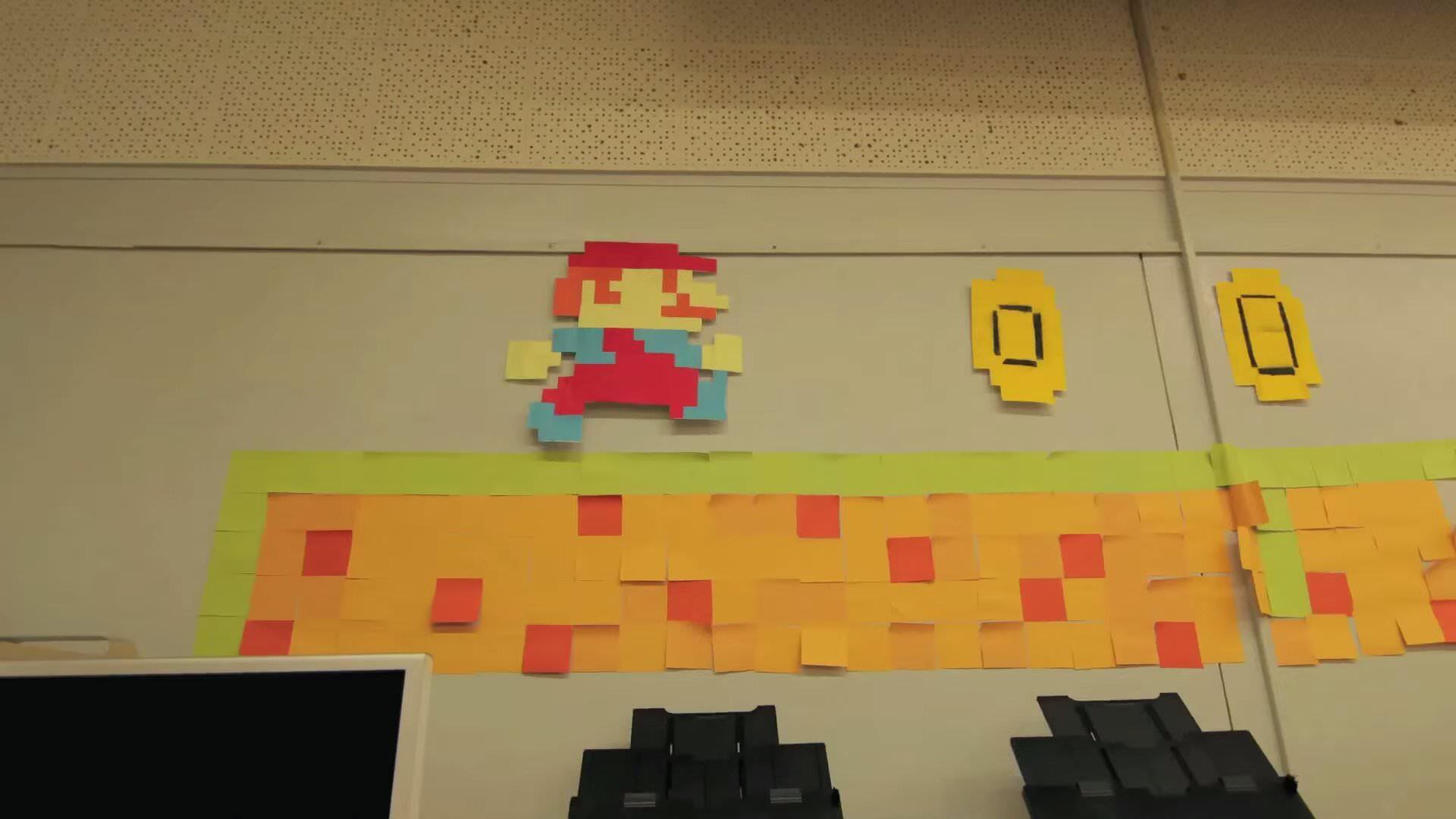 Zack Kingのストップモーションアニメーション:Mario – Post It Life