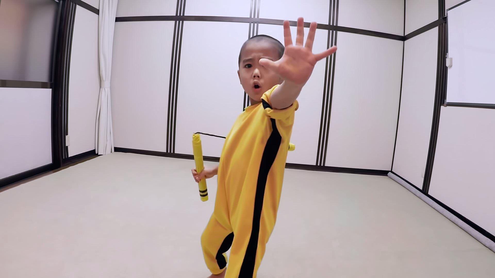 5歳になったミニ・ブルース・リー!キレッキレのヌンチャクさばき!Ryusei Imai