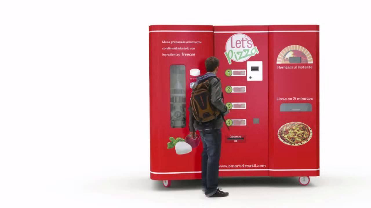 これマジ!?ピザを焼いてくれる自動販売機:LET'S PIZZA