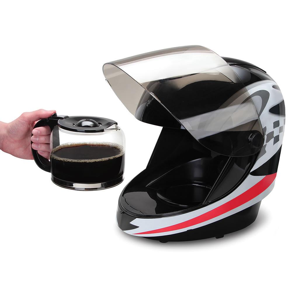 レーサー必須?ヘルメット型のコーヒーメーカー