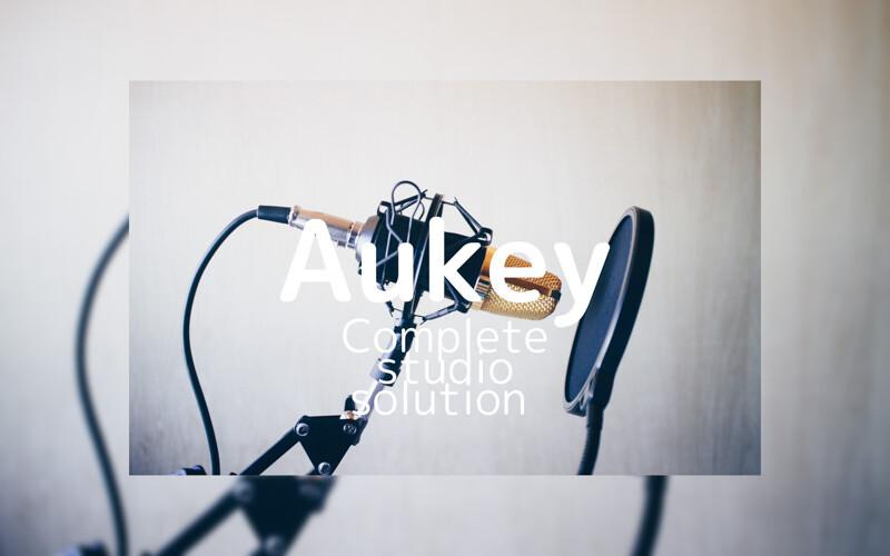 Aukey本格的スタジオ収録セット!ポップフィルターやショックマウント、そしてコンデンサーマイク!