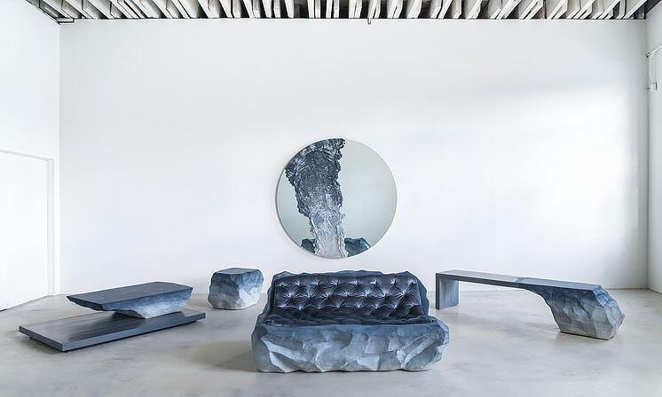 氷河からインスピレーションを得て作られたインテリア家具:Fernando Mastrangelo