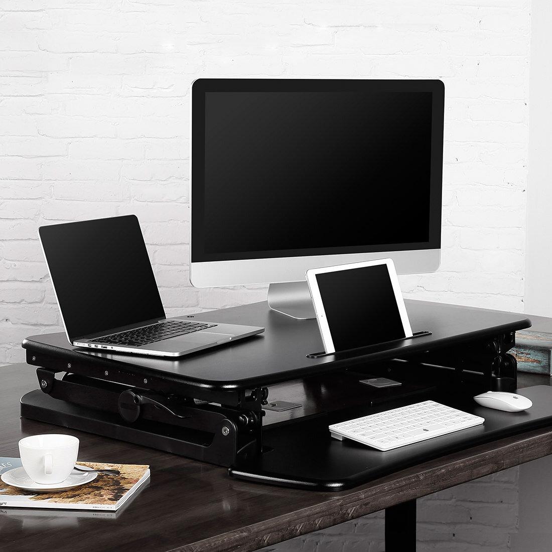 立って作業、座って作業、どっちもすぐに切り替えられるスタンディングデスク:Loctek FLEXISPOT