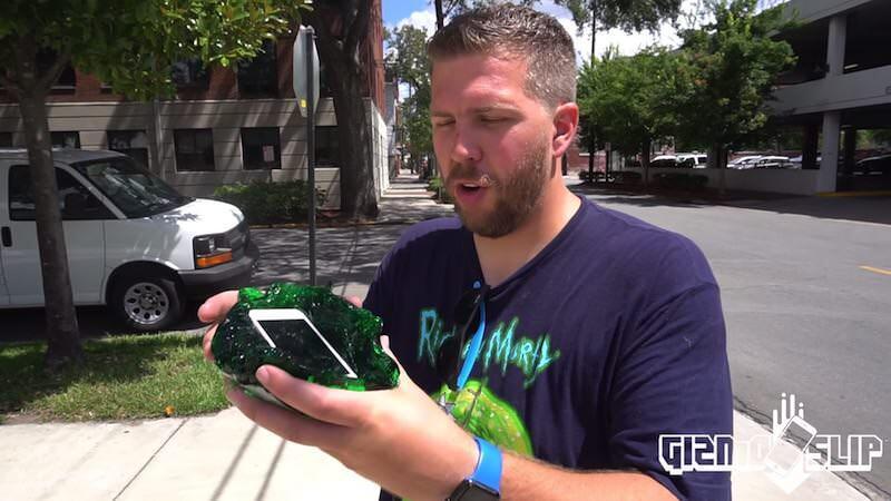 自家製フラバーにiPhone SEを入れて100フィートから落下させる実験