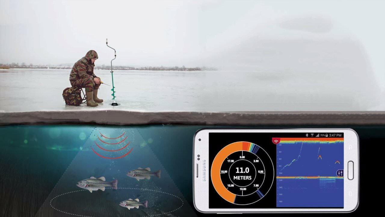 魚群を探知してスマートフォンで表示する装置:FishHunter PRO