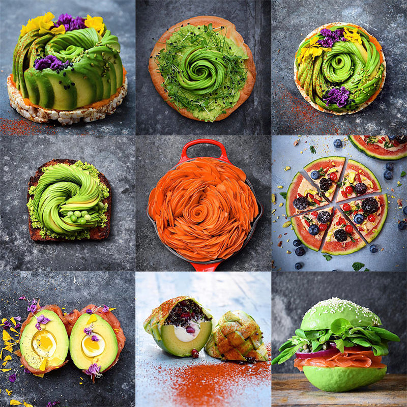 フードアーティストによる美しいアボカド料理:Food Deco
