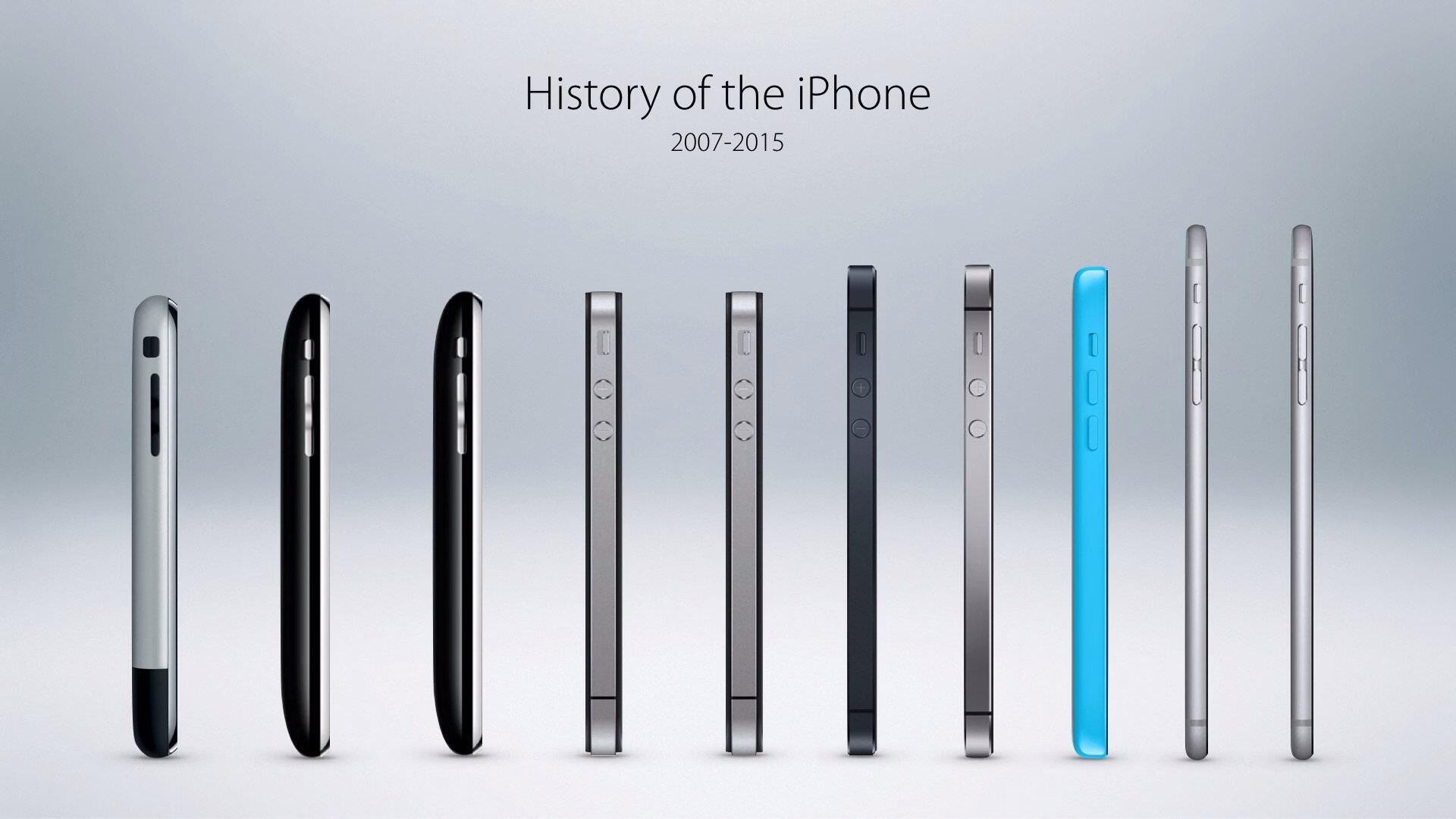 歴代iPhoneが勢ぞろい!2007年iPhoneから2015年iPhone6sまで!