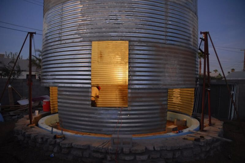 Converted grain silo by Christoph Kaiser 1 800x535