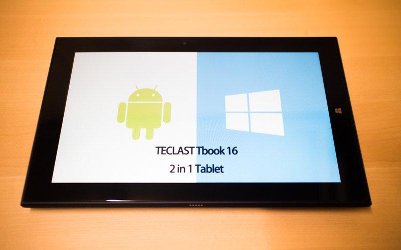 Android 5.1とWIndows10をデュアルブートできる11.6インチタブレット:Teclast Tbook 16
