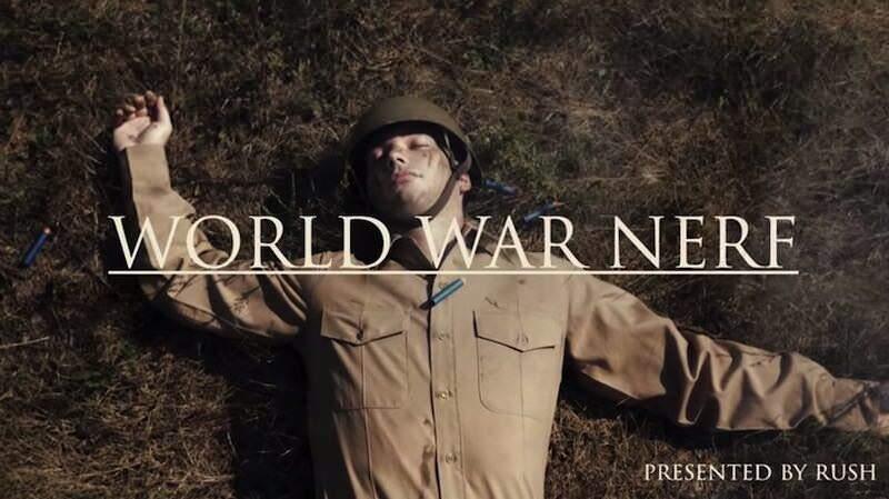トイガンNERFを使って叩くショートームービー:World War Nerf