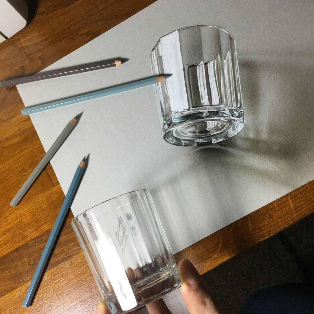 3d drawing of a glass by marcellobarenghi da2brnj