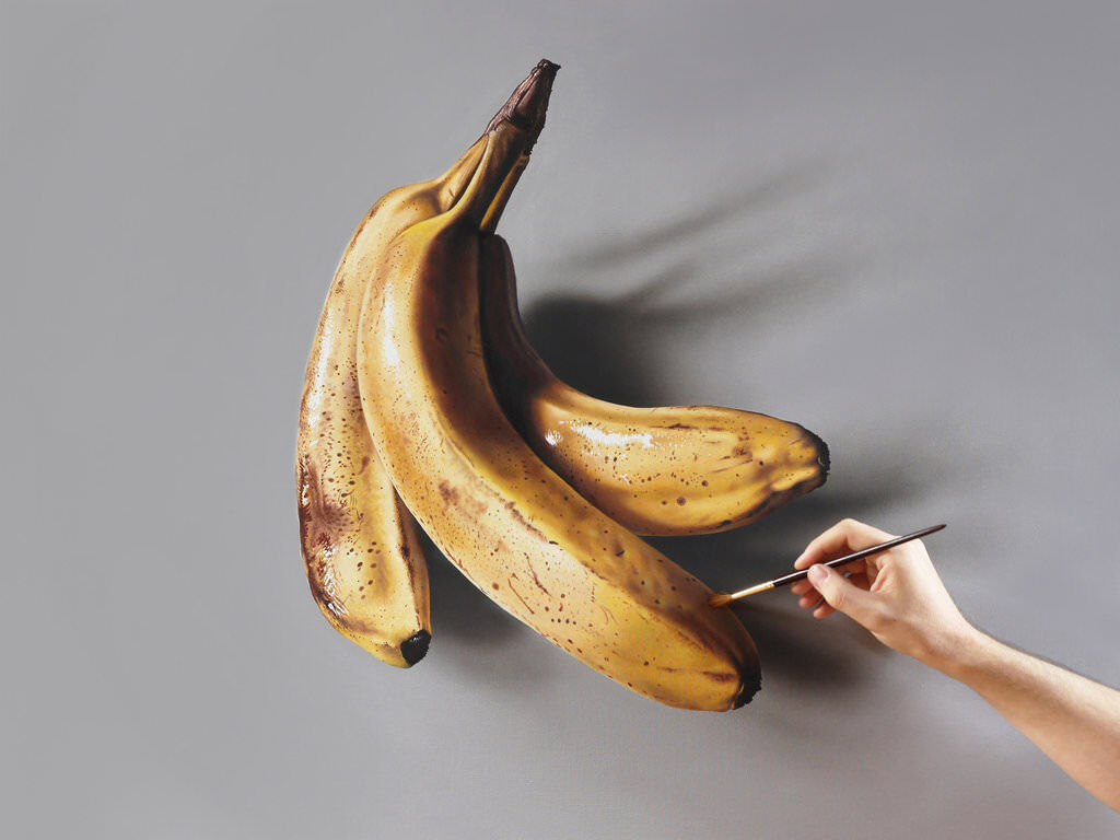 Bananas painting by marcellobarenghi daa4045