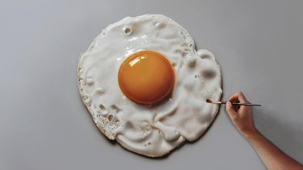 Fried egg painting by marcellobarenghi dafgqwt