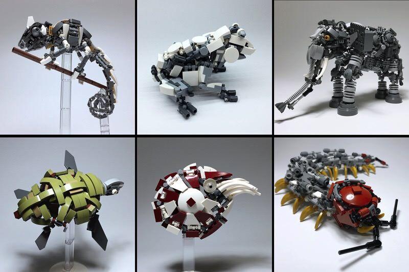 LEGOで作られた『機械生物』に一目ぼれした!!めっちゃメカめかしい生き物達だ!!!