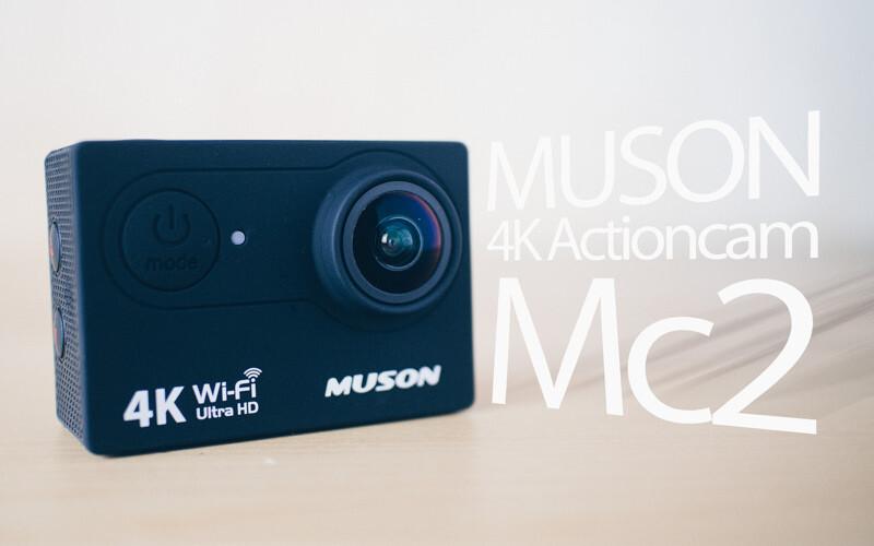 MUSONの4kが撮影できるアクションカメラ、MC2の紹介。バッテリー2個、リモコン付き!