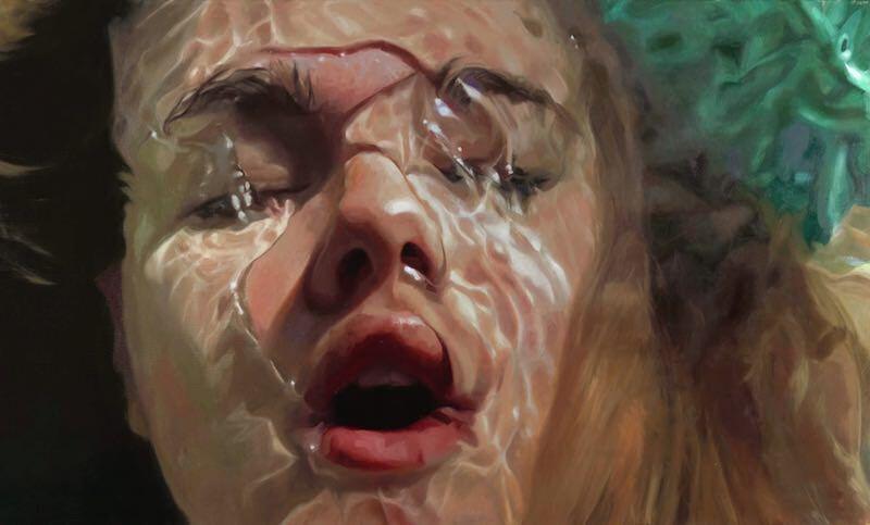 水を意識したハイパーリアリズムなアート「Aqua」:Reisha Perlmutter