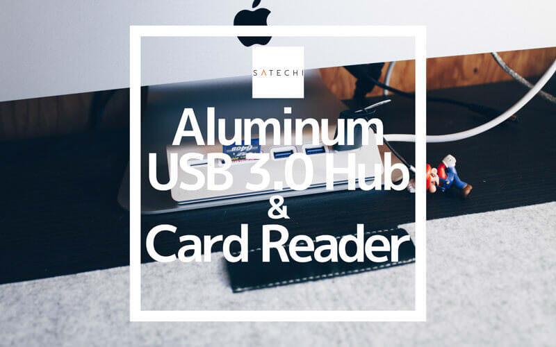 iMacに似合うSatechiのアルミニウムUSB3.0ハブ&カードスロット