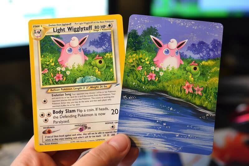 ポケモンカードの「外側」をアクリルで描くアート作品:Lunumbra's Cards