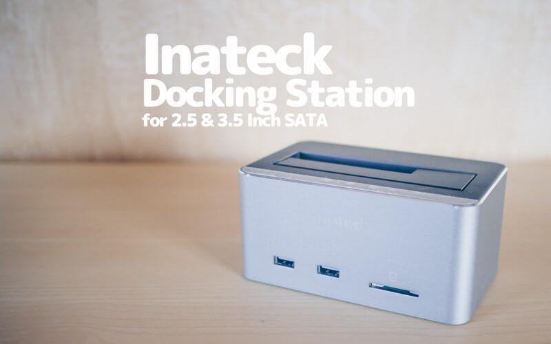 InateckのHDD/SSDのクレードルのレビュー、USBが2ポートとSDスロットがついてる