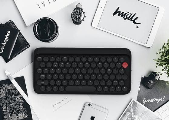 タイプライターにインスパイアされたメカニカルキーボード:lofree
