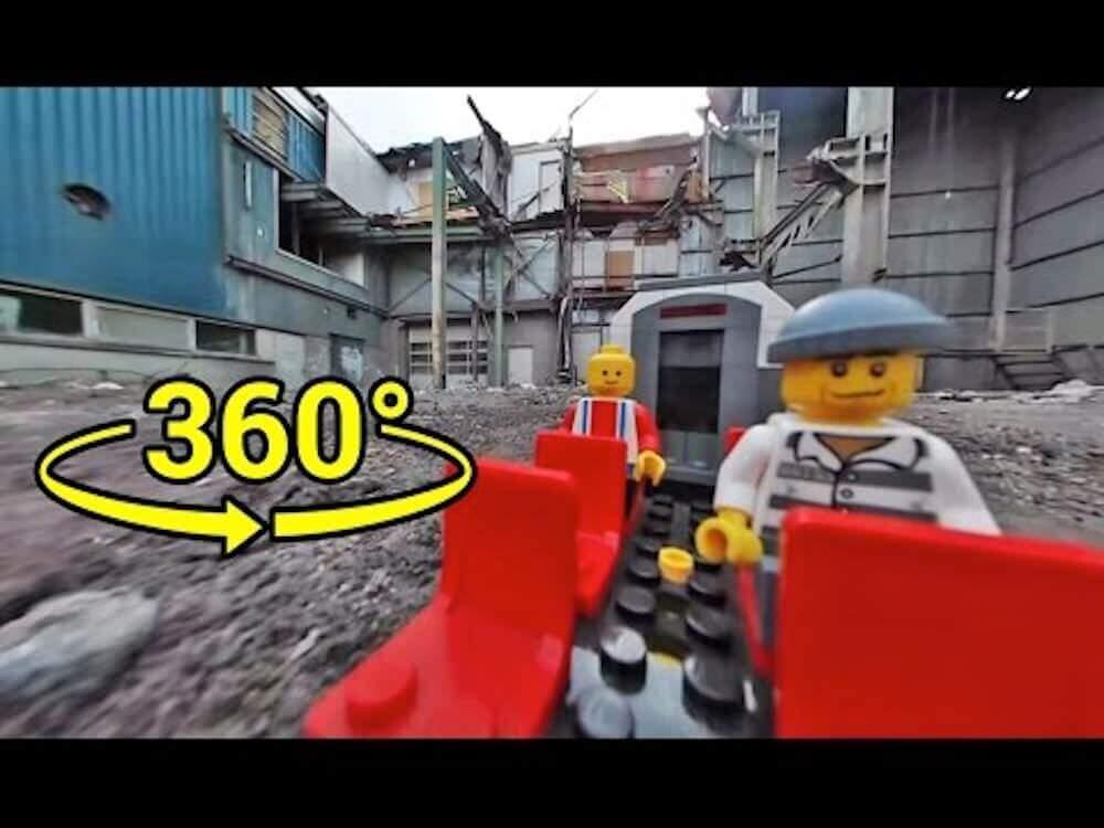 LEGO電車の走行様子をひたすら見るVR映像
