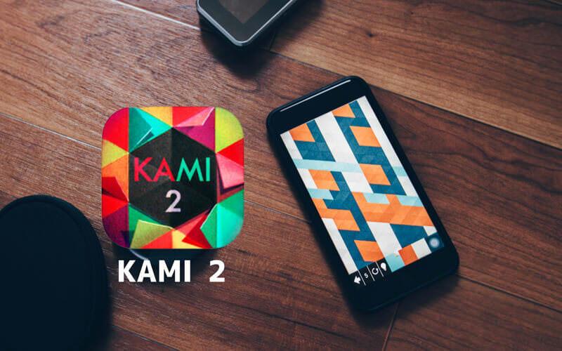 折りたたむエフェクトが気持ちいいパズルゲーム:KAMI 2